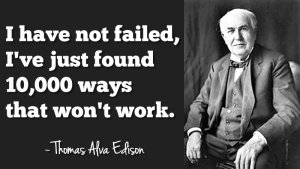 First thing, I am no fan of Edison.  He was a shrewd business man, but not very nice.  I'm a Tesla girl to the max, but this, this I can relate to and agree with.