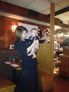 A lovely Japanese restaurant just off of Central park… they really enjoyed holding James.