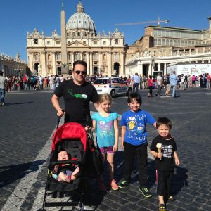 Vatican City with four kids is not exactly relaxing...