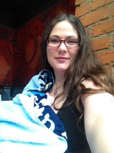 Breastfeeding Selfie… somwhere… Mukilteo maybe?  Somewhere in Washington state anyway.