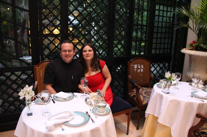 Two relaxed, fresh faced and calm Hobbits enjoying High Tea at Alvear Palace in Buenos Aires.  Why?  Because our parents had the children for three glorious weeks!