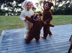 Three cute cuddly kiddies